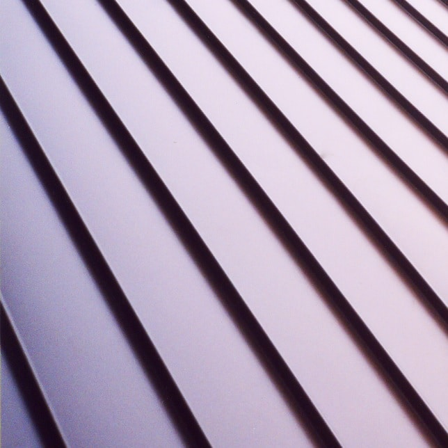 Metal roofing on a shed