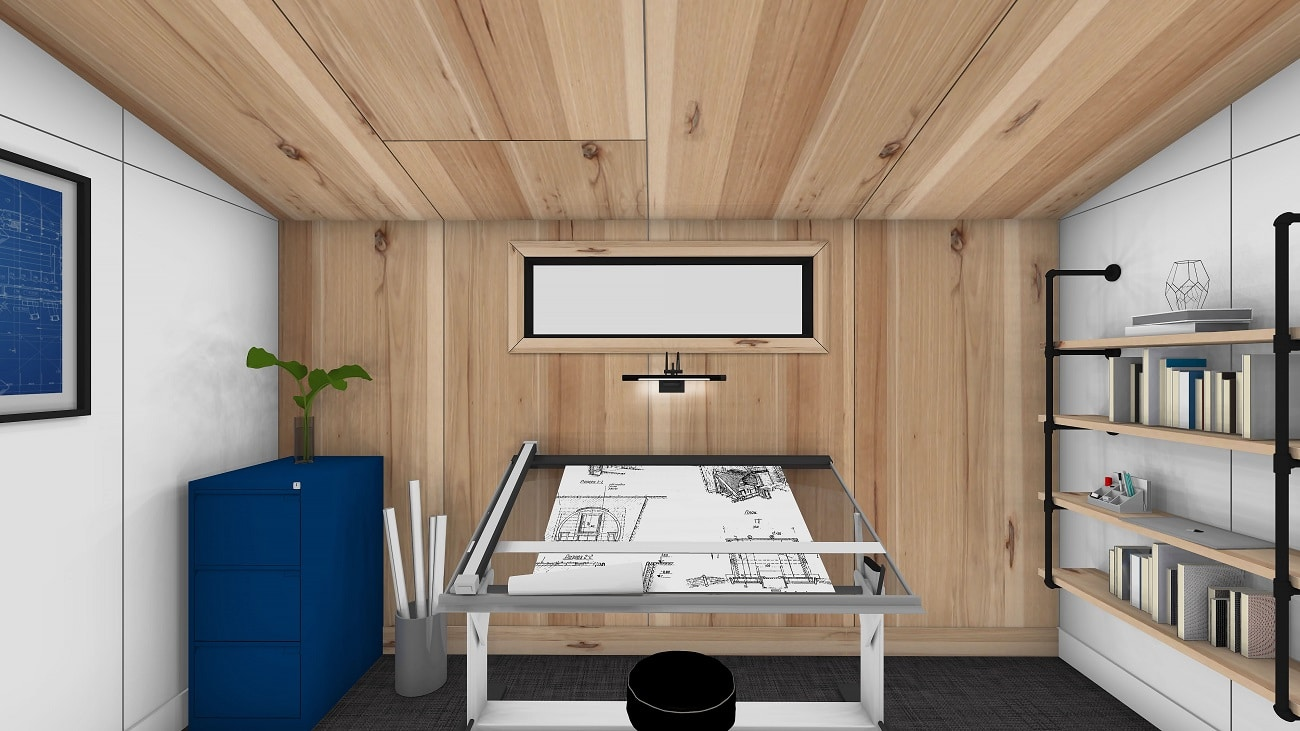 Home office shed Modern Series Interior 1