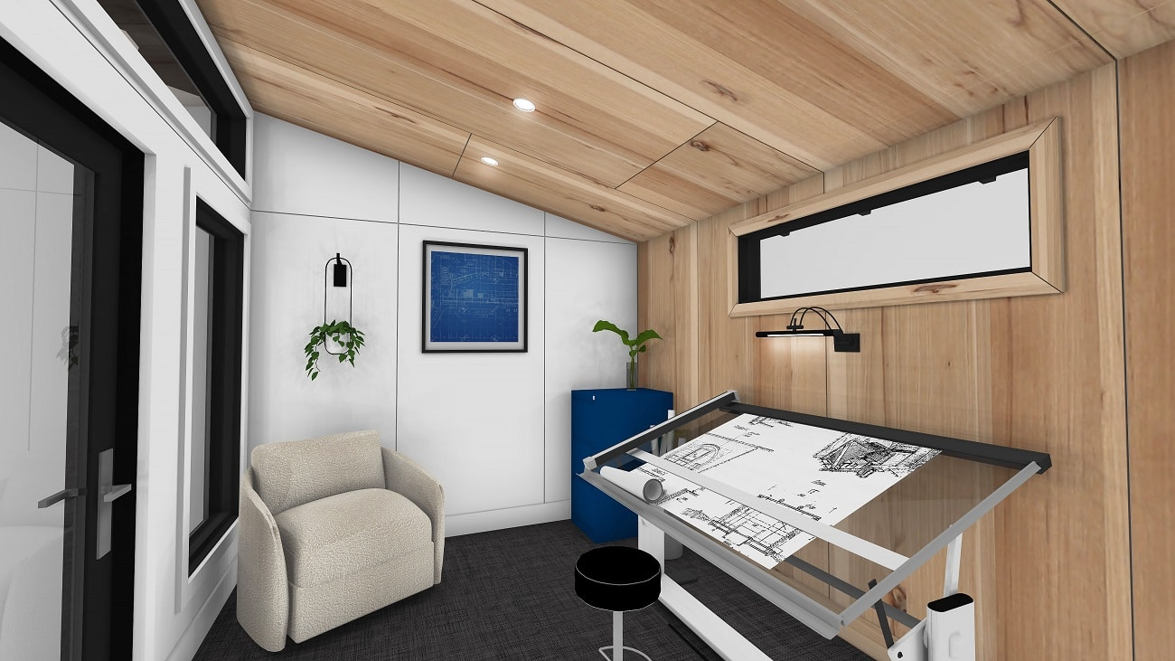 Home office shed Modern Series Interior 2