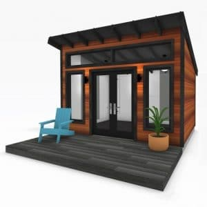 Sanctuary Sheds Modern Series with front deck 2