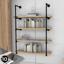Home Office Shed Design Elements 10 custom wall mounted shelves