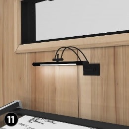 Home Office Shed Design Elements 11 wall mounted task light