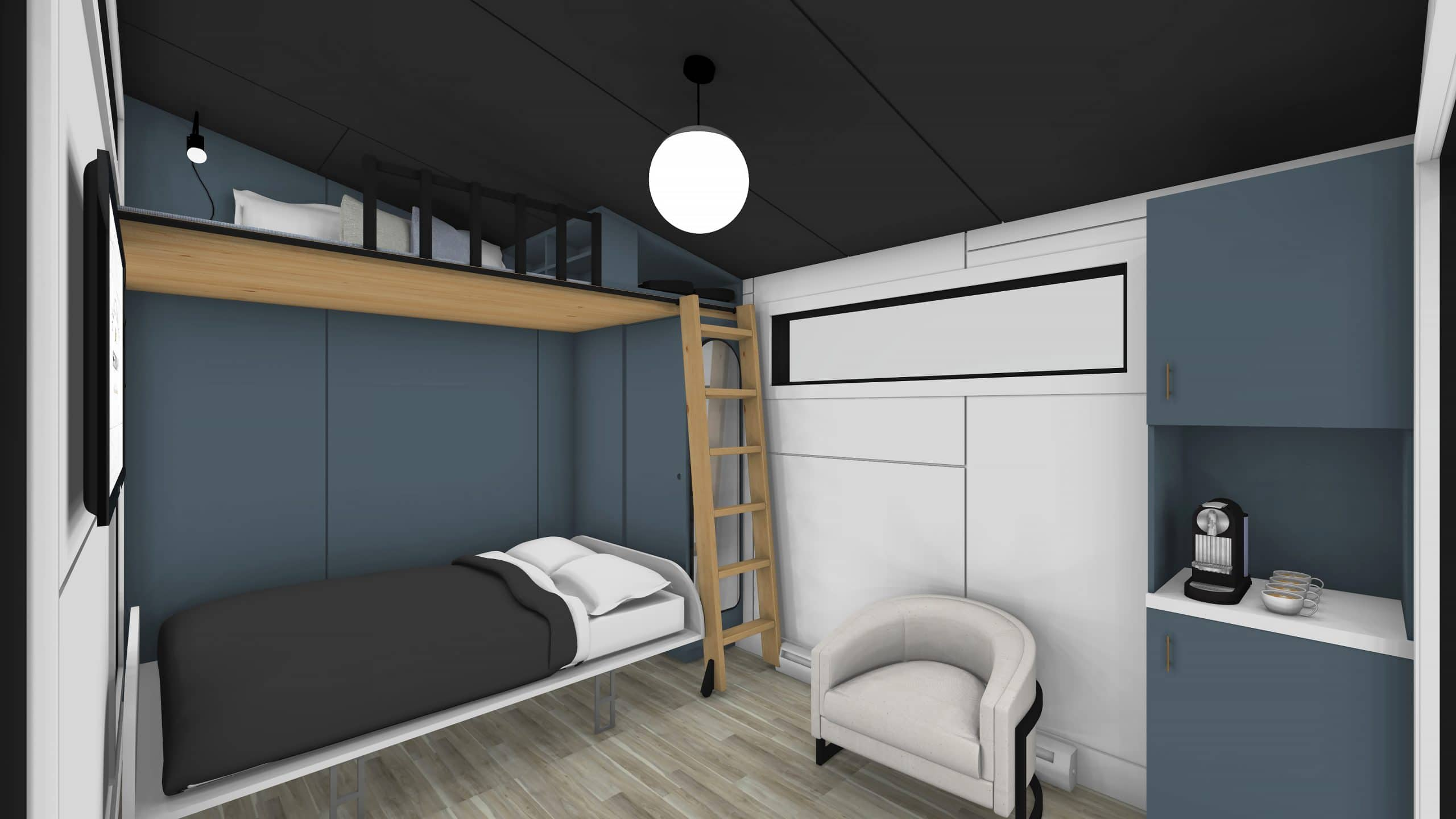 Murphy Bed and Loft 10 x 14 Modern Interior 2 - featured image