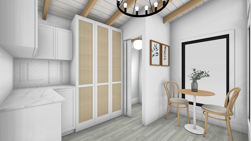 Sanctuary Sheds Pool House 10x12 Modern - Interior 1 - featured image