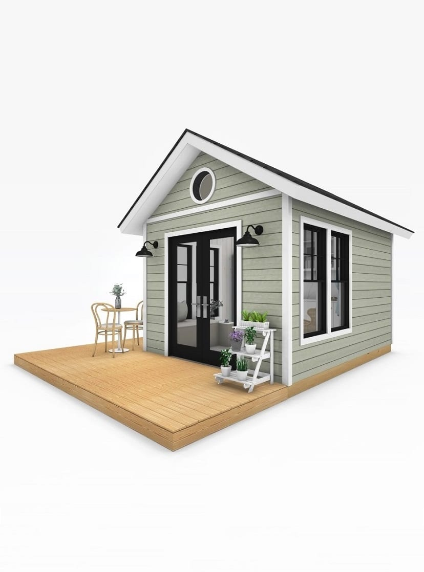 Sanctuary Sheds Pool House 10x14 Traditional Exterior 2 uses