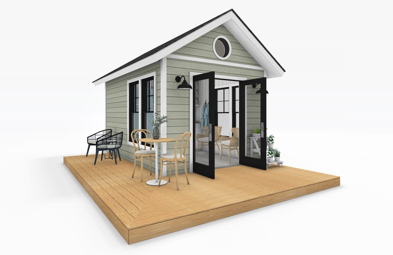 Sanctuary Sheds Pool House 10x14 Traditional Exterior 4