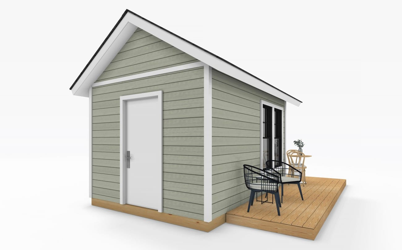 Sanctuary Sheds Pool House 10x14 Traditional Exterior 5