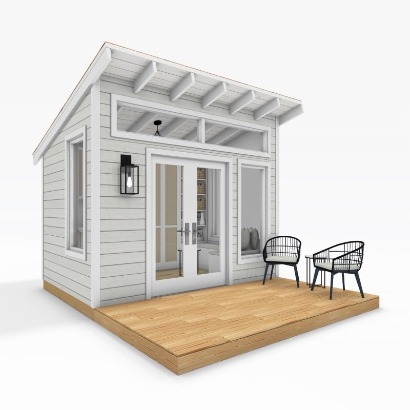 Sanctuary Sheds Pool House 8x12 Modern - Exterior 1 - featured image