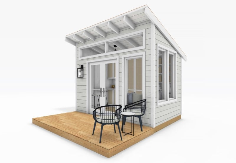 Sanctuary Sheds Pool House 8x12 Modern - Exterior 2 - uses