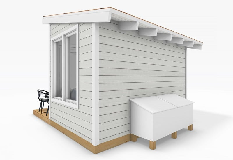 Sanctuary Sheds Pool House 8x12 Modern - Exterior 3 - uses