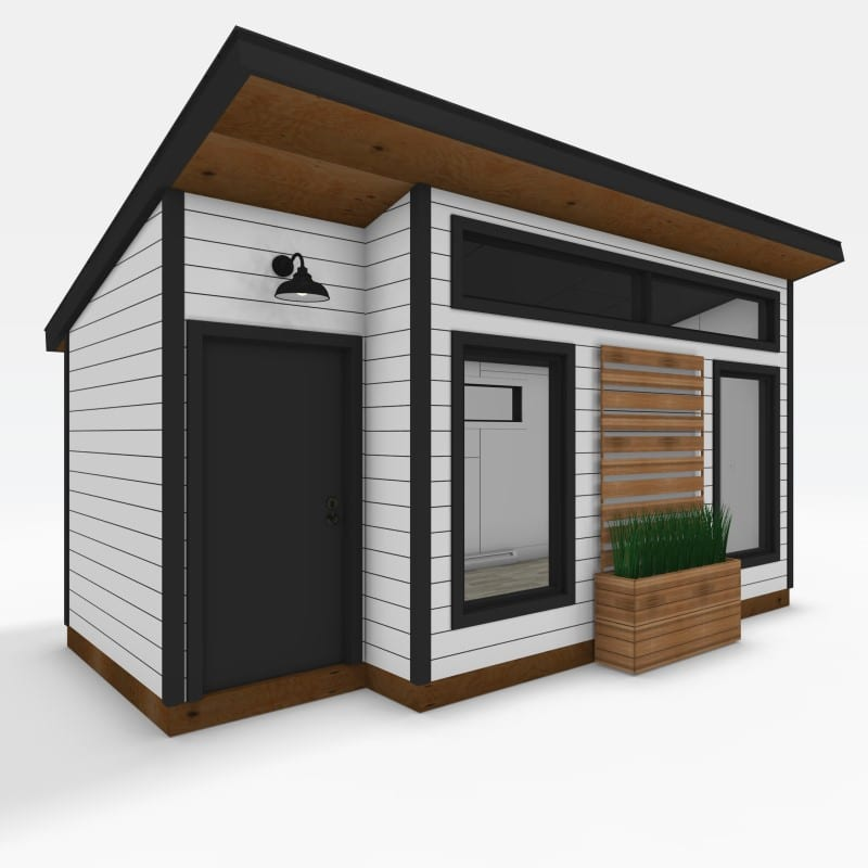 Modern 10 x 14 with 4 x 8 storage exterior 1 featured image